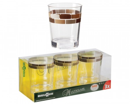 Glass Brunner Chocolate 30cl 3stk